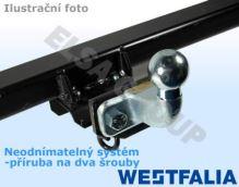 Ťažné zariadenie Fiat Doblo II PLYN 2010-2018, přírubový čep 2 šrouby, Westfalia