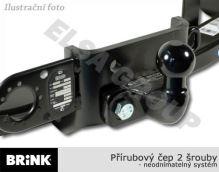 Ťažné zariadenie Ford Transit/Tourneo valník 2000-, přírubový čep 2 šrouby, BRINK