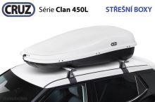 Strešný box CRUZ Clan 450B, U80, biely
