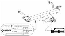 Ťažné zariadenie Citroen Jumper valník 2006-, příruba 4š, Westfalia
