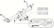Ťažné zariadenie Citroen Jumper valník 2011-, bez čepu, Westfalia
