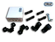 Sada 4 fixačních adaptérů pro modulární koše Cruz na ocelové tyče 30x20