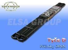 Priečnik strešného nosiča OPEN D čierny 987+987 cm