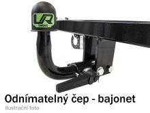 Ťažné zariadenie Fiat Doblo skříň 2000-2010 (I), bajonet, Umbra