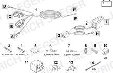 Doplnková sada pre spínané plus (+15) pre 13-tich pinové elektroinštalácie