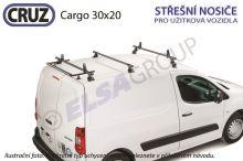 Strešný nosič Citroen Nemo / Fiat Fiorino / Peugeot Bipper sada 3 priečnikov