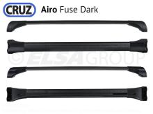 Strešný nosič Mercedes Clase GLC 5dv.15-, CRUZ Airo Fuse Dark