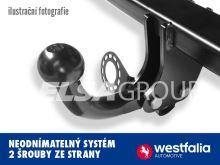 Ťažné zariadenie Audi A1 Sportback (5dv.) 2012-, pevný čep 2 šrouby, Westfalia