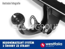 Ťažné zariadenie Fiat 500X 2015- , pevný čep 2 šrouby, Westfalia