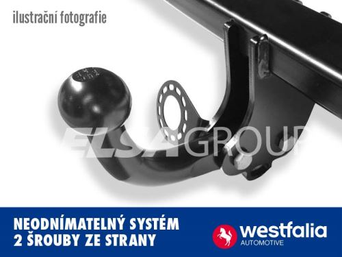Ťažné zariadenie Mercedes Benz M (ML) 2005-2011 (W164) , pevný čep 2 šrouby, Westfalia
