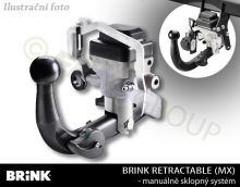 Ťažné zariadenie BMW 5-serie Touring (kombi) 2014/03- (F11), automat sklopný, BRINK