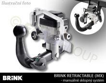 Ťažné zariadenie Mercedes Benz CLA Shooting Brake 2015- (X117) , automat sklopný, BRINK