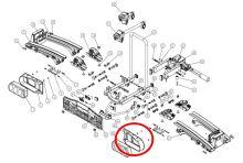 Rámeček světelné rampy Oris Traveller/Eufab Premium - pravý