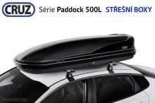 Strešný box CRUZ Paddock 500N lesklá černá