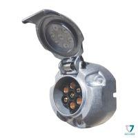 Zásuvka 7pin (DIN), IP44, ALU