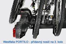 Nosič bicyklov prídavný Portilo na 3. bicykel